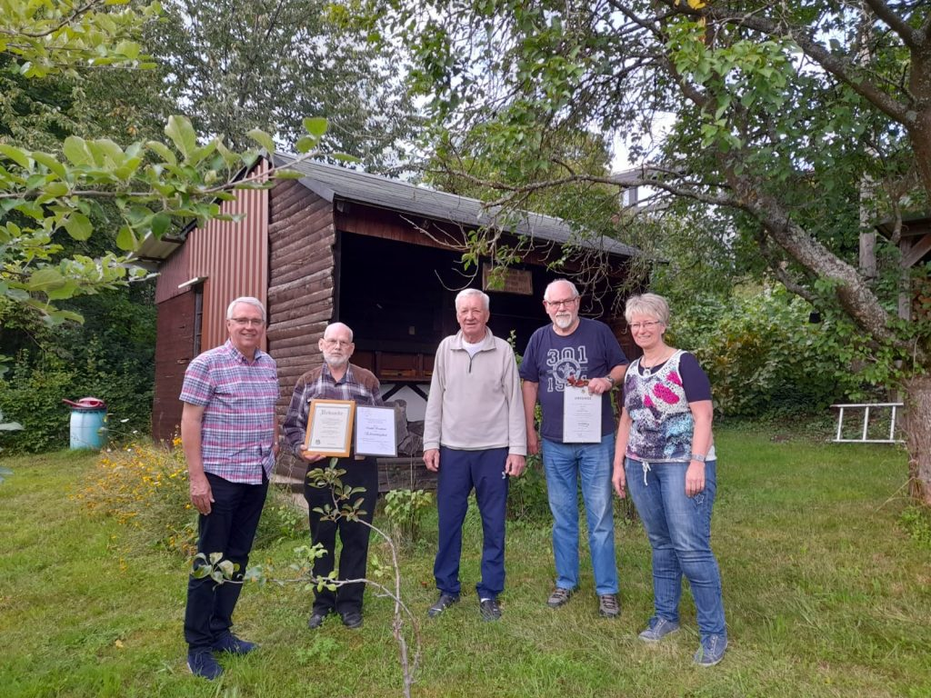 v.l.n.r.: Andreas Schlosser (KIV) Rudolf Krombach, Rudolf Schmidt, Hermann Klein, Rosemarie Thomas (KIV) (verhindert: Rudolf Nies)